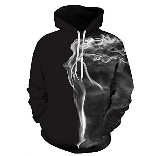 URVIP Unisex 3D Druck Muster Langarm Kapuzenpullover Hoodie Sweatshirt Weihnachten Halloween Hoodie...