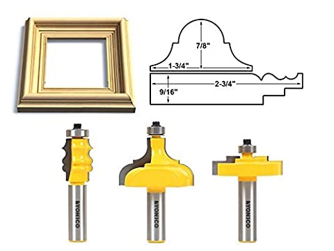 Yonico 18322 Complete Picture Frame Making Router Bit Set with 1/2-Inch Shank by Yonico