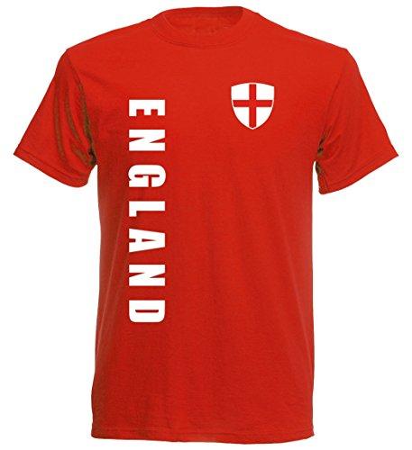 England Kinder T-Shirt – TS-10 – EM 2016 – rot – Fussball Trikot (128)