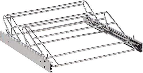 Filinox. 82409002 - Zapatero orden 50-80cm extraible armario cromado filinox
