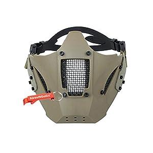 4e256e731a2 Adjustable Táctico Estilo militar TMC Jay Fast Media cara de la Máscara  protectora para Airsoft (Khaki) – AirsoftGoGo Llavero Incluido