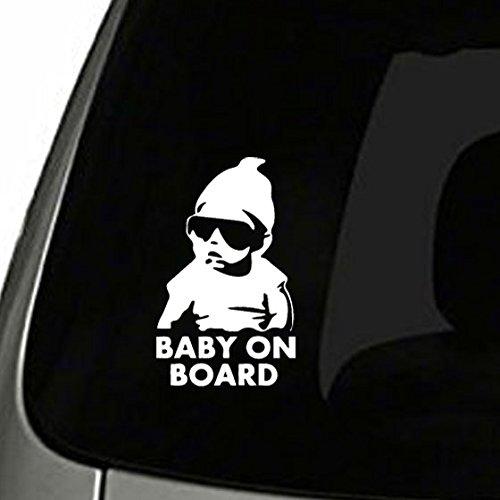 Preisvergleich Produktbild TOTOMO # ALI-001 Baby on Board Aufkleber Abziehbild Sicherheits Vorsicht Zeichen für Auto Fenster - Carlos vom lustigen Abziehbild des K Autosticker