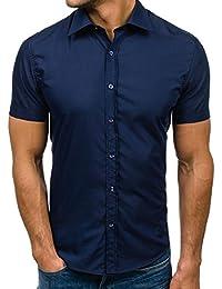 BOLF Herren Freizeithemd Herrenhemd Langarm Slim Fit Hemd 2B2 Casual