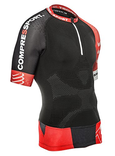 Compressport Trail V2-Camiseta de manga corta para hombre, camiseta, c