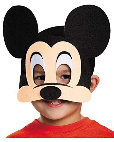 Horror-Shop Mickey Mouse Halb-Maske aus Filz für Karneval