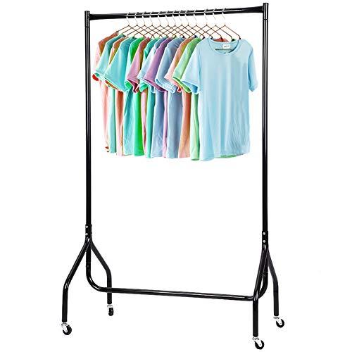 Cocoarm Kleiderständer Standtrockner mit Rollen Wäscheständer Kleiderstange Schneller Aufbau für drinnen und draußen 89 x 149cm Schwarz
