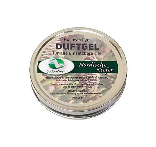 SudoreWell Duftgel 'Nordische Kiefer' für Sauna, Infrarotkabine und Badezimmer, 20g Dose