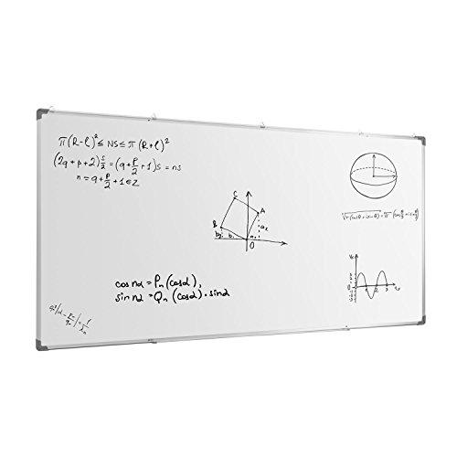 oneConcept Whitus 240 Whiteboard Wandtafel Magnettafel (240 x 120 cm, magnetisch, Aluminiumrahmen, LDF-Kern, Emaille-Spezialbeschichtung) weiß