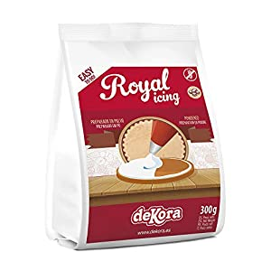 Dekora - Royal Icing en Polvo para Adornar Tartas, Bizcochos o Cupcakes - 300 Gr