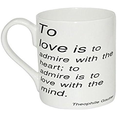 Taza de Theophile Gautier a Love is a admirar con el corazón a admirar es a...