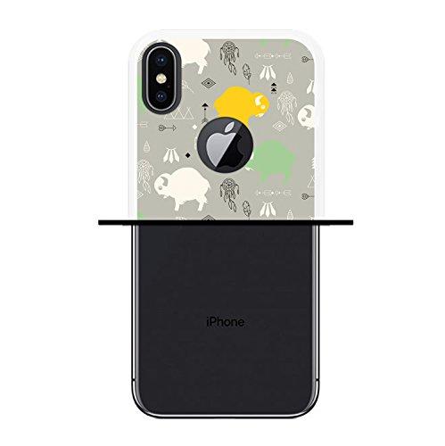 iPhone X Hülle, WoowCase Handyhülle Silikon für [ iPhone X ] Hund Fußabdruck Handytasche Handy Cover Case Schutzhülle Flexible TPU - Schwarz Housse Gel iPhone X Transparent D0531