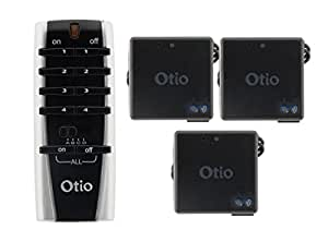 Otio - Pack Télécommande + 3 Micro-Récepteurs Encastrables Télécommandés TMR-8105 - Eclairages