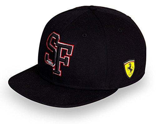 Ferrari schwarz SF Flach Krempe Verstellbare Snap Back Cap von Ferrari