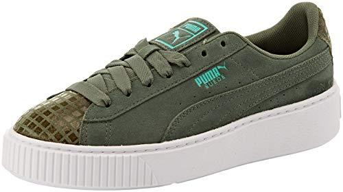 PUMA Damen Suede Platform Street 2 WN's Sneaker, Grau (Laurel Wreath-Laurel Wreath - Puma Mint Sneaker