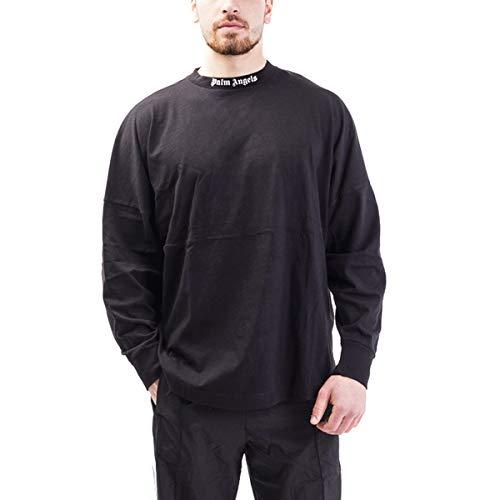 Preisvergleich Produktbild T-Shirt Palm Angels in Cotone Uomo PALM ANGELS cod.PMAB001E19413002 BLACK - WHITE SIZE:L