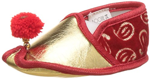 Bootie Pie Unisex Paisley Mojari Pie Gold and Red Booties - 2 UK/India (18 EU)(BPPM37M)