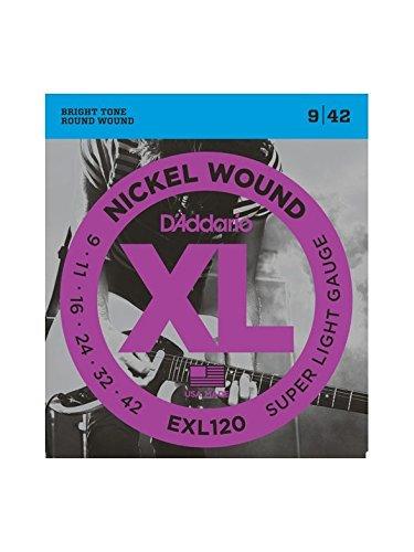 Juego cuerdas para guitarra electrica Daddario EXL120 - XL Super Light (pack 3 juegos)