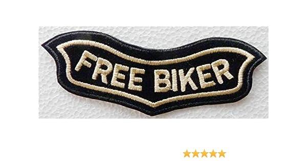 Generico Grande Toppa Patch Roker Free Biker Scritta Classica Harley Davidson Colore Oro