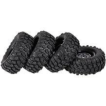 Goolsky 4pcs 1.9 pulgadas 96 mm rueda de oruga llantas y neumáticos para 1/10