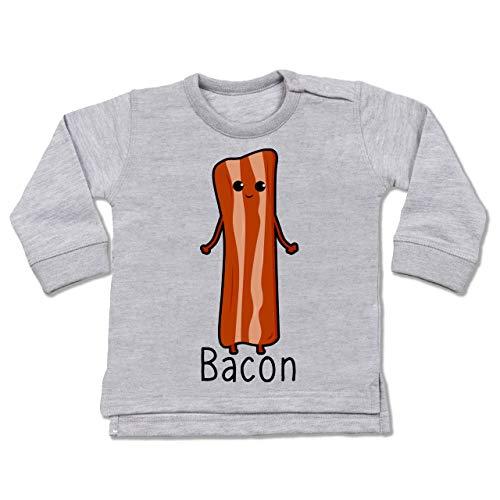 Shirtracer Karneval und Fasching Baby - Bacon Partnerkostüm - 6/12 Monate - Grau meliert - BZ31 - Baby Pullover