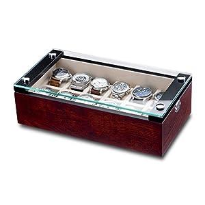 Hermann Jäckle Uhrenbox Mannheim für 12 Uhren wurzelholz matt