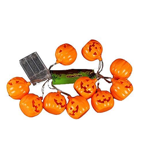 Charik Streich Lichter, 16Led-Hohl Kürbis-Leucht Schnur Für Indoor-und Outdoor-Halloween-Party-Dekoration Halloween String Lights Dekoration 3,2 M