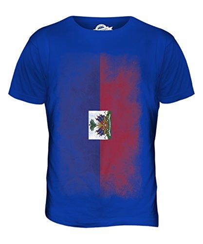 CandyMix Haiti Verblichen Flagge Herren T Shirt Königsblau