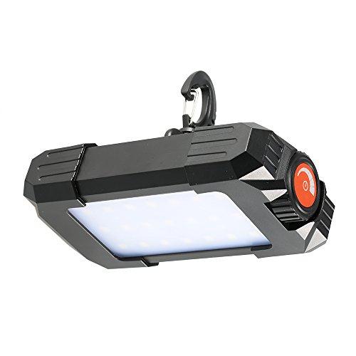 Lixada Lampe de Poche 500LM Outdoor Rechargeable Portable 27 LED Lanterne Lampe Lampe de Poche pour l'extérieur Urgence Randonnée Camping Travel Mobile Power Bank avec Built-in Compass Thermomètre
