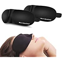 Mondpalast @ 3D Masque des Yeux Sommeil ( Pack de 2 ) Lavable Anti fatigué Anti-lumière pour voyage Sommeil Insomnie Détente Relaxation