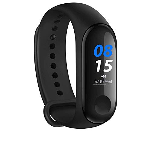 Techartz Smart Fitness Band 3 Activity Tracker | Bluetooth 4.2 | Fitband with OLED Heart Rate Monitor, Health Activity, Smart Bracelet Wristband for All Android and iOS Smartphones - Black