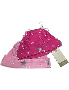 Name it Babymützen Titia im 2er Pack Rosa und Pink mit Sternen Gr. 40/44