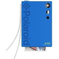 Polaroid Mint Appareil photo numérique à impression instantanée (Bleu), impression sur papier photo collé sur support Zink 2x3
