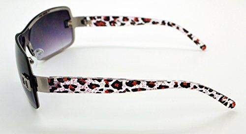 Vox tendance classique de haute qualité pour femme Hot Fashion Lunettes de soleil W/sans pochette en microfibre Pink/Silver Frame - Smoke Lens