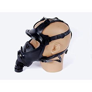 Armeeware Gr.S Belgische Gasmaske BEM 4 GP Panoramamaske schwarz ohne Filter Schutzmaske ABC-Ausrüstung