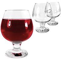 Tuff-Luv 2 x Ursprüngliche -Glas / Gläser / Barbedarf CE Cognac / Brandy Snifter - 390ml (13.7oz)