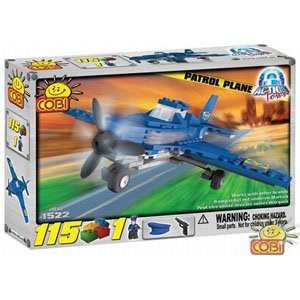 Cobi-Action-Town-Police-Plane-Toy-Playset
