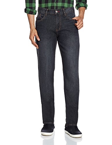 Newport Men's Slim Fit Jeans (8907542143917_269262986_34W x 32L_Black Super Stone)  available at amazon for Rs.599