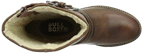 Bullboxer 702E6L520, Damen Biker Boots, Braun (BRWN)