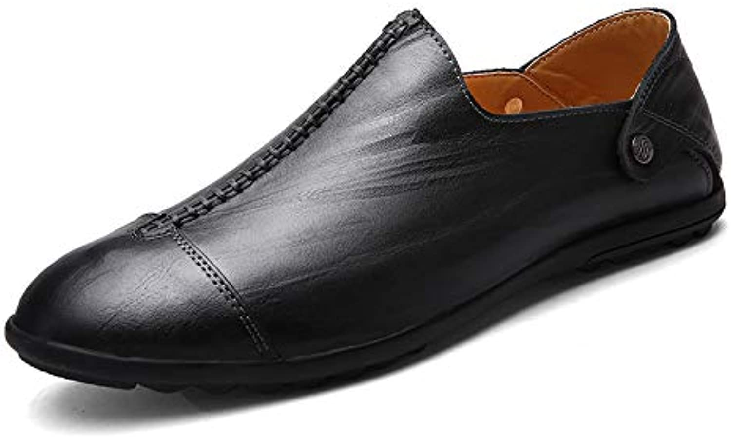 LOVDRAM Men's scarpe New Leather Fashion Comfortable Men's Casual Casual Casual Business Breathable Low To Help Set Foot Men's... | Primo gruppo di clienti