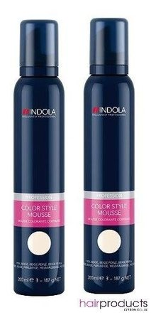 Indola Colour Mousse 200ml - Pearl Beige x2