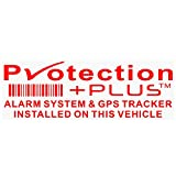 5X protection Plus-alarm et dispositif de suivi GPS Security-red/Clear-stickers 87x Installed on This Vehicle, van avertissement tracker Signs-platinum Place Motif Copyright, marque commerciale, sûre, Avertissements, avis, Viper, protéger, effet dissuasif, fenêtres