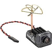 Spotter V2 Micro FPV AIO Cámara 5.8G con micrófono integrado OSD, FOV170 Grado 700TVL, transmisor de vídeo 40ch VTX ajustable para Mini FPV RC Drone