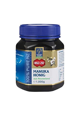 Manuka Health - Manuka Honig MGO 250 + 1Kg - 100{f862e443ba1f4c526cc33c1f56b0f3aaa7c60ceec970c42b0e3f48ee2d70fd50} Pur aus Neuseeland mit zertifiziertem Methylglyoxal Gehalt