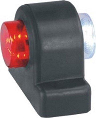 Bajato Lite Green - 2X LED Umriss Markierung, Seitliche Begrenzungsleuchte, 12V, Rot/Weiß für Traktoren, Lastwägen, Anhänger, Reisebusse, Wohnwägen - 12001302