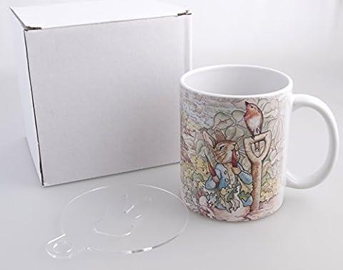Beatrix Potter Story Mug + FREE Kaffee Schablonen