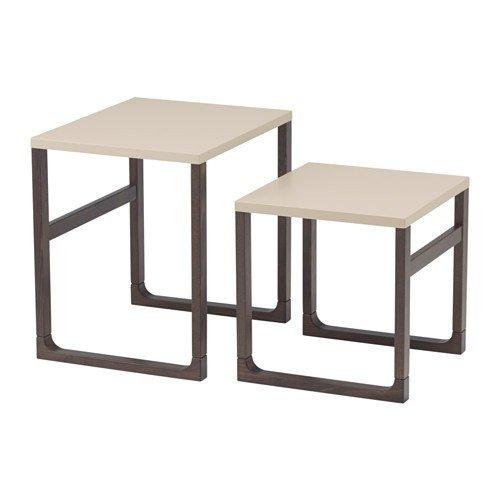 IKEA RISSNA Satztische in beige; 2 Stück