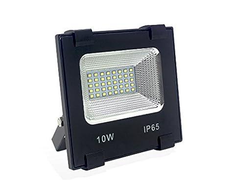 MIFFIYA Led Scheinwerfer Strahler Floodlight Flutlicht Fernlicht Außenbeleuchtung 10W 6500K Wasserdicht IP65 Geeignete Scheinwerfer Hinterhof Gärten Wiesen Zäune Werbewand (10W)
