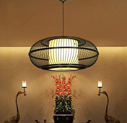SHADIOA Deckenleuchte,Deco Art Dec runde,Esstisch,Esszimmer, als Hängelampe, Pendelleuchte über Esstisch, handgeflochten aus Bambus,Pendelleuchte Holz im