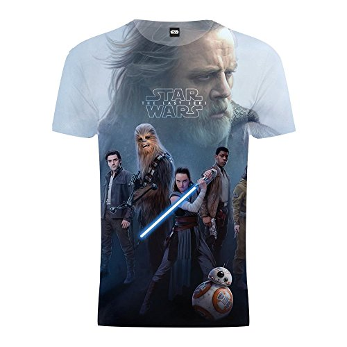 0be427958 STAR WARS The Last Jedi - T-Shirt avec imprimé 'Rey Luke Skywalker Heroes