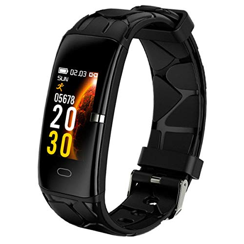 AXNYLHY WATCH Fitness Smartwatch, Fitness-Armband mit Herzfrequenz-Messgerät Blutdruckmessgerät Schlafmonitor Schrittzähler IP68 wasserdichte Fitness-Tracker Rufen Sie SNS an,Black